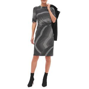 New BANANA REPUBLIC Ruched Sheath Dress Medium